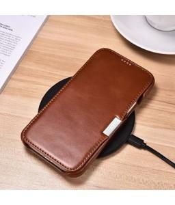 iPhone 12 cover i brun læder