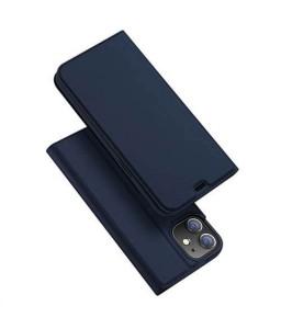iPhone 12 mini læder flip cover / pung i blå