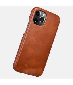 iPhone 12 mini cover i brun læder