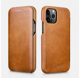 iPhone 12 mini cover i lys brun læder
