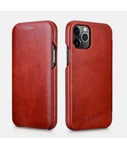iPhone 12 mini cover i rød læder
