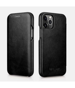 iPhone 12 mini cover i sort læder