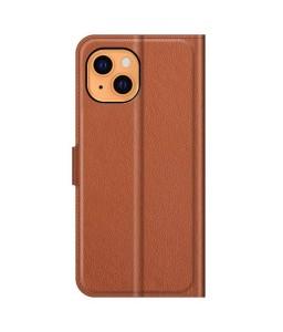 iPhone 13 læder cover pung brun flipcover