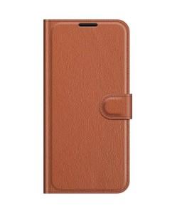 iPhone 13 mini læder cover pung brun flipcover