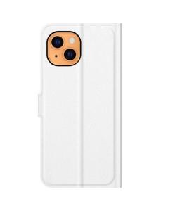 iPhone 13 mini læder cover pung hvid flipcover