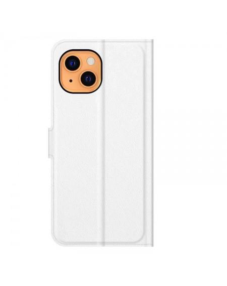 læder flipcover iphone 13 mini hvid