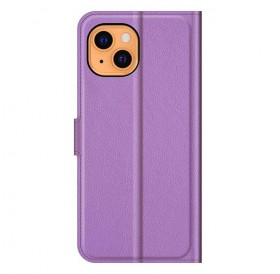 iPhone 13 læder cover pung lilla flipcover