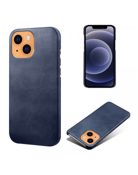 Iphone 13 læder cover blå