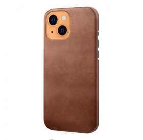 iPhone 13 læder cover back - Brun