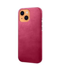 iPhone 13 læder cover back - Pink
