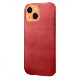 iPhone 13 læder cover back - Rød