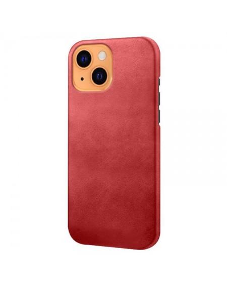 Iphone 13 læder cover rød