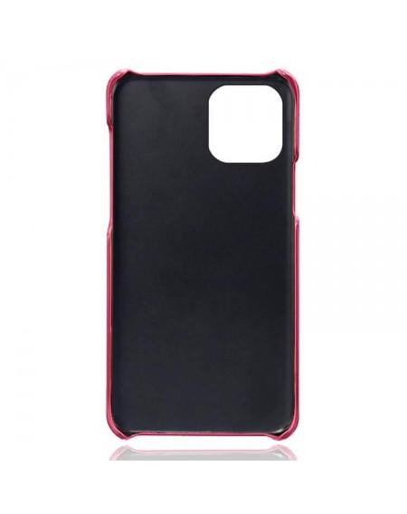 Iphone 13 læder cover pink