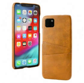 iPhone 11 læder cover lys brun med kort holder