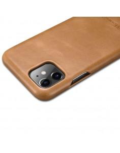 iPhone 11 flipcover i ægte Khaki læder