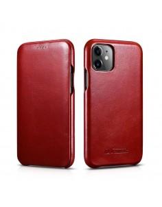 iPhone 11 flipcover i ægte Rød læder
