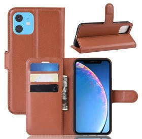 iPhone 11 læder cover pung brun flipcover