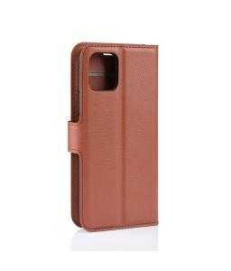 iPhone 11 læder cover pung brun flipcover