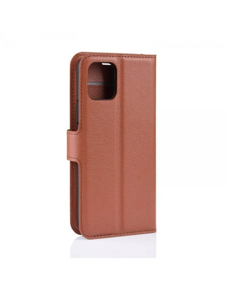 læder flipcover iphone 11 brun