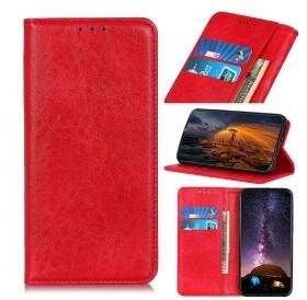 iPhone 11 læder cover pung rød flipcover