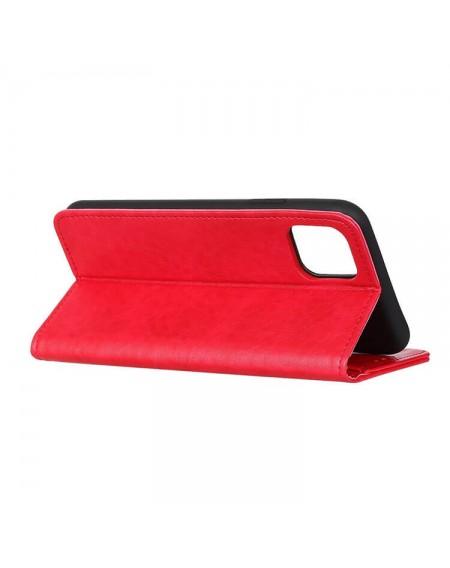 læder flipcover iphone 11 rød