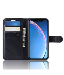 iPhone 11 læder cover pung sort flipcover