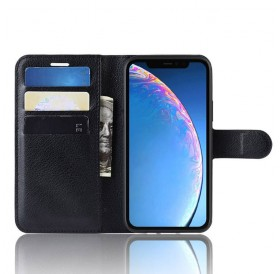iPhone 11 læder cover pung sort flipcover