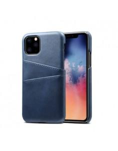 iPhone 11 læder cover i blå med kort holder