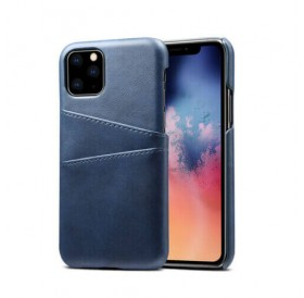 iPhone 11 læder cover i blå med kort holder
