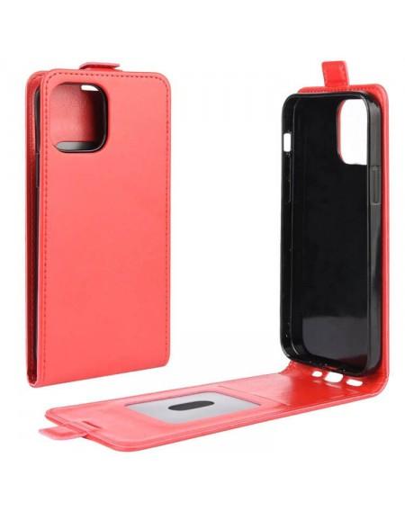 iphone 12 mini flip læder etui rød