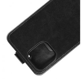 iPhone 12 mini vertical flip læder cover Sort