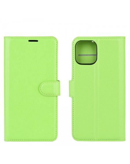 læder pung iphone 12 mini grøn