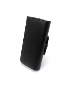 iPhone 11 læder etui m. bælteclip | Sort / Brun