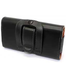 iPhone 8 læder etui m. bælteclip | Sort / Brun