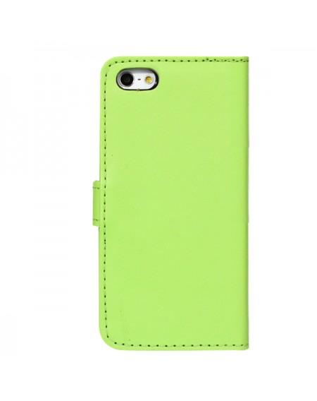 iphone 6 læder pung i grøn