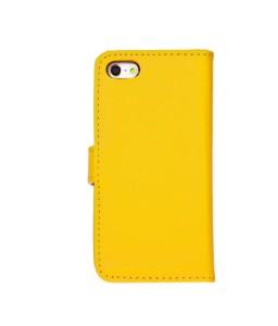 iPhone 6 Læder etui Gul incl. Stylus og skærmbeskytter