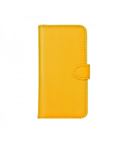 iPhone 5 læder cover gul