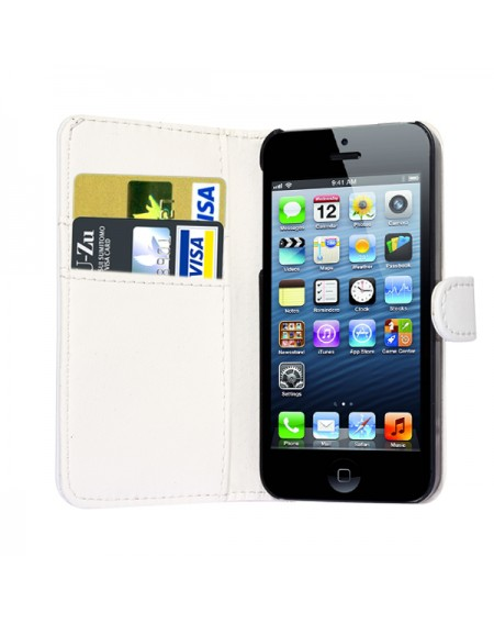 iPhone 5 læder cover hvid