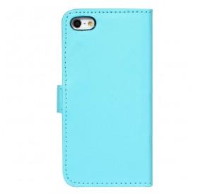 iPhone 6 læder etui sky blå incl. stylus og skærmbeskytter