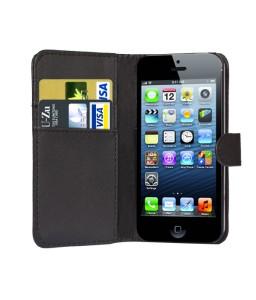 iPhone 5 læder etui sort incl. stylus og skærmbeskytter