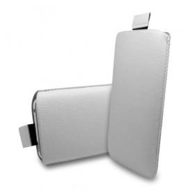 iPhone SE læder sleeve med hjælpestrop i hvid