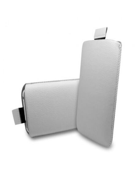 læder sleeve iPhone SE hvid