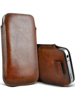 iPhone 7 læder etui med hjælpestrop i brun