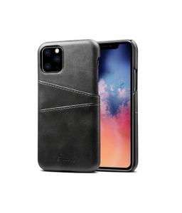 iPhone XR læder cover i sort med kort holder