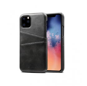 iPhone XR læder cover i sort med kort holder