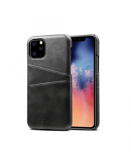 iphone xr læder hard back cover